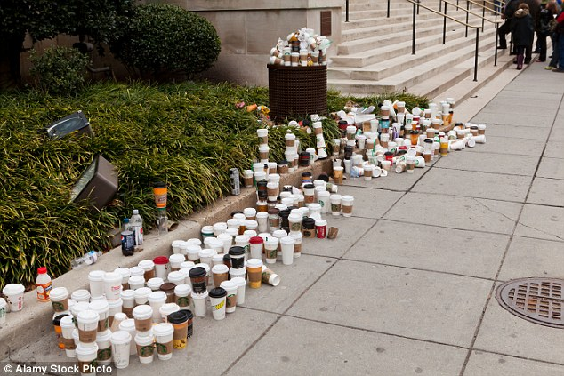 one brown planet, coffee cups, waste, disposable